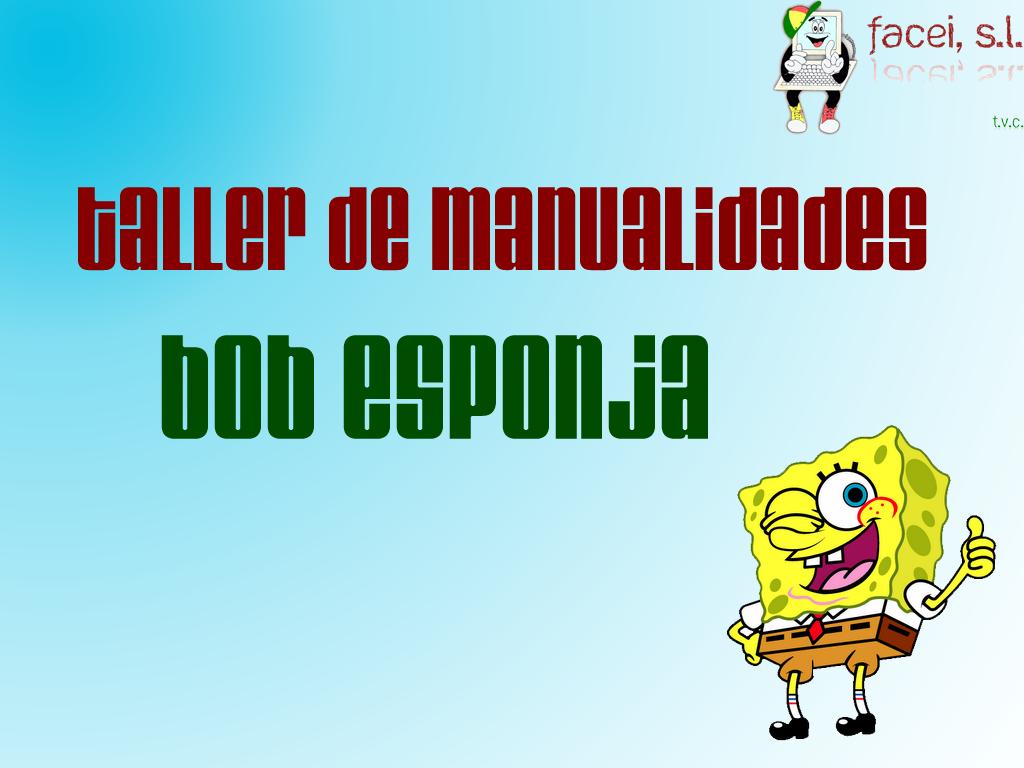 Taller de manualidades: Bob Esponja